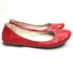 Vince Camuto Shoes - Vince Camuto Ellen Red Patent Leather Ballet Flats